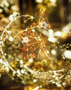 Gold Christmas Decoration and Star
