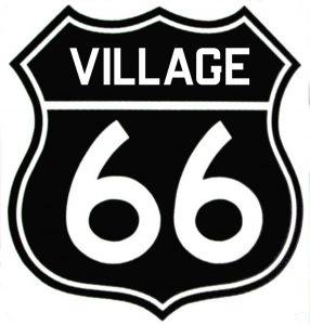 village black sign